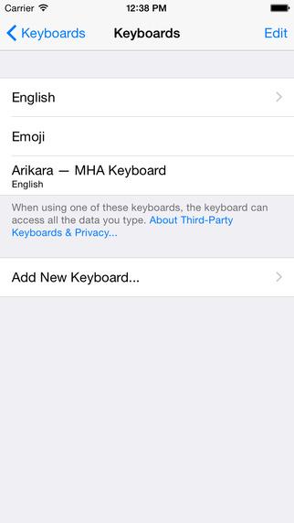 Arikara Keyboard - Mobile