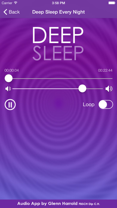 Instant Sleep by Glenn Harrold; a Self-Hypnosis Meditation for Relaxation iPhone Screenshot 3