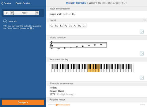 Wolfram Music Theory Course Assistant iPad Screenshot 2