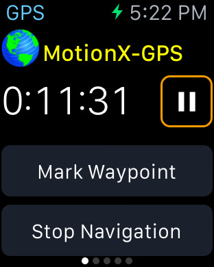 MotionX GPS Screenshots