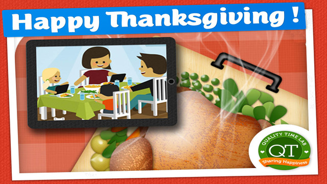 Thanksgiving Time: eat together with family video calls - perfect for long distance families