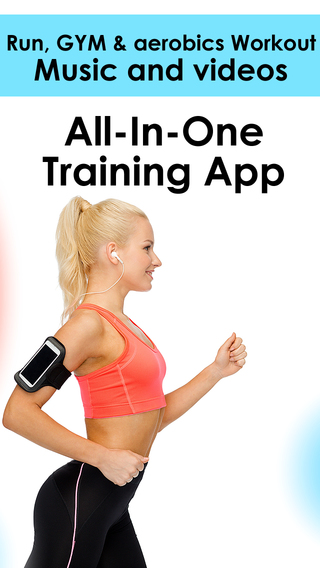 Workout music playlists Videos - Personal fitness trainer app and daily aerobic for fast calorie bur