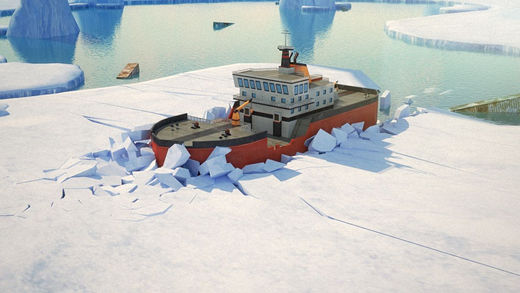 3D Icebreaker Parking - Arctic Boat Driving Simulation Ship Racing Games
