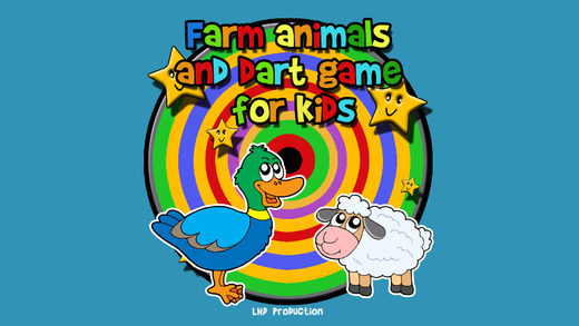 Farm animals and darts for children - free game