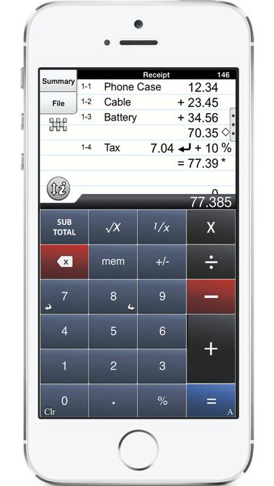 ✓ Accountant Calc - adding machine calculator with paper tape iPhone Screenshot 1
