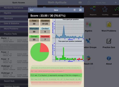 6 ACT Practice Tests (Math) iPad Screenshot 3