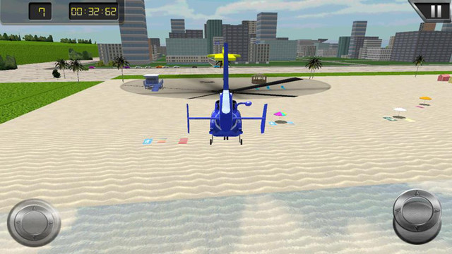 City Helicopter Landing 3D- Fly a modern helicopter simulator over modern urban city