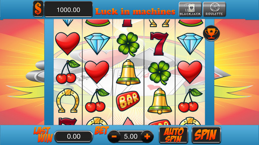 Amazing Luck In Machines 3 - Free Game Slots Blackjack and Roulette