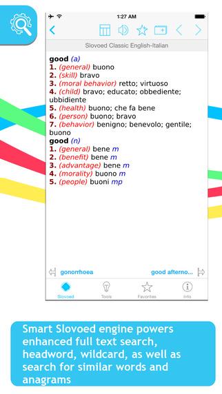 Italian English Slovoed Classic talking dictionary