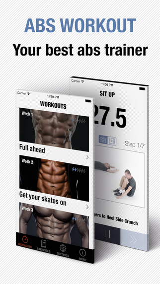 Abs Workout - Personal Trainer for daily six pack ab training workouts exercises