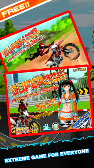 Supercross Motorcycle Stunt Race - Dirt Bike Extreme Stadium Madness FREE