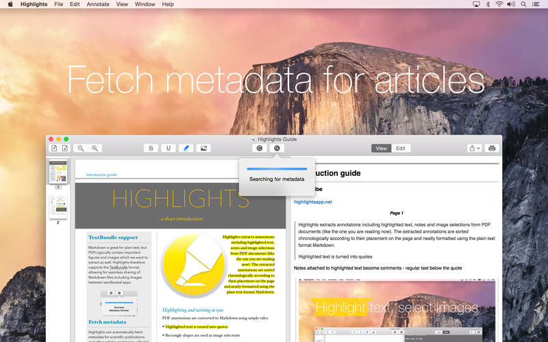 short cut for highlight in pdf reader mac