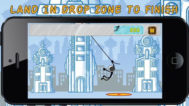 Super Stickman Swing - City Sky Fly
