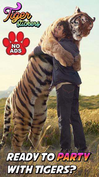 Tiger Sticker Photo Editor PRO: Draw Stamp Tigers Animal Prank