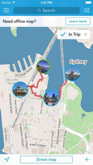 Australia New Zealand Trip Planner Travel Guide Offline City Map for Sydney Melbourne or Wellington