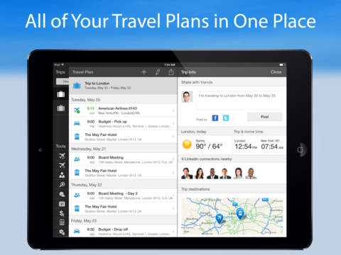 WorldMate Travel Plans & Flight Tracker screenshot