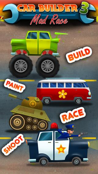 Car Builder 3 Mad Race - No Ads