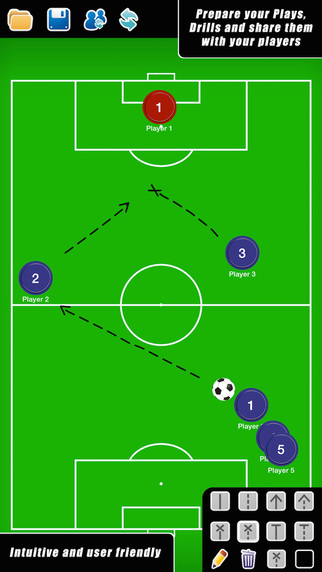 Coach Tactical Board for Football Soccer