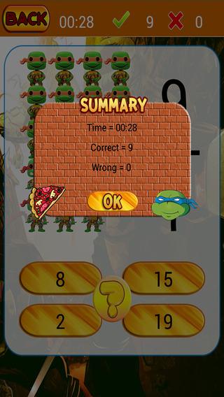 Easy Math Kids For Ninja Turtles Version