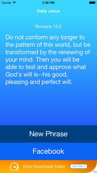 Daily Jesus: Bible Phrases