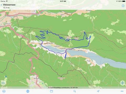 myTracks - The GPS-Logger iPad Screenshot 2