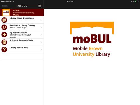 moBUL Brown Library iPad Screenshot 1