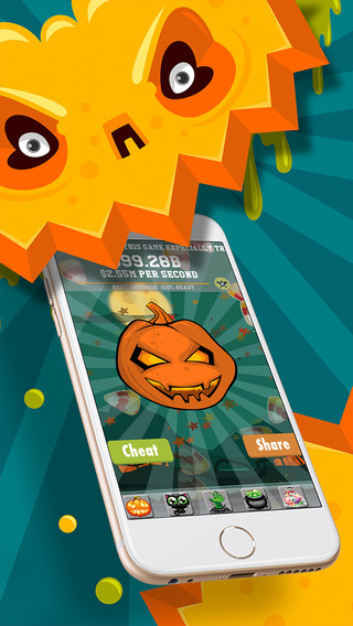 Halloween pumpkin clickers- trick or treat with spooky sound monster zombie cookie and candy