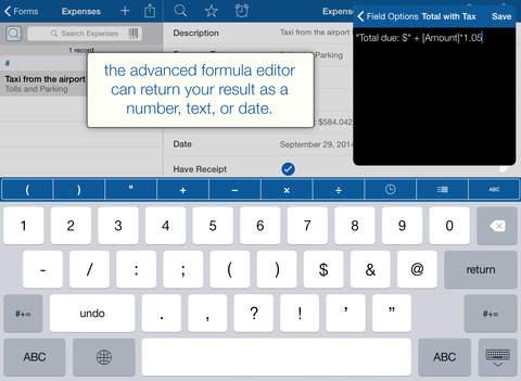 Tap Forms HD - Database for iPad iPad Screenshot 4