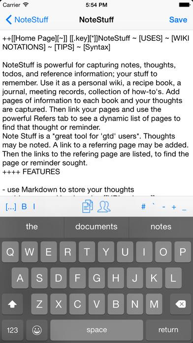 NoteStuff Lite iPhone Screenshot 2