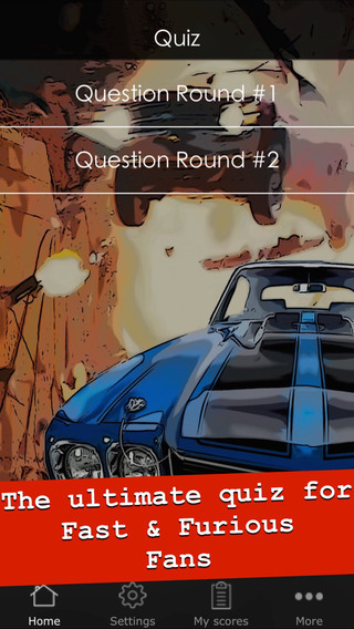 Quiz for Fast Furious - Cool trivia game app about the action movies