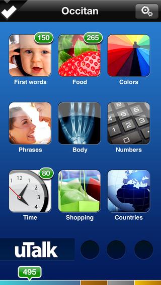 uTalk HD Occitan iPhone Screenshot 1