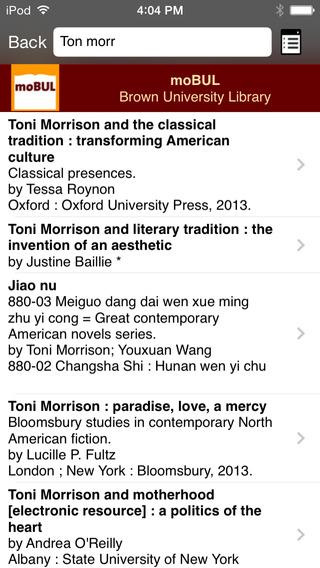 moBUL Brown Library iPhone Screenshot 2