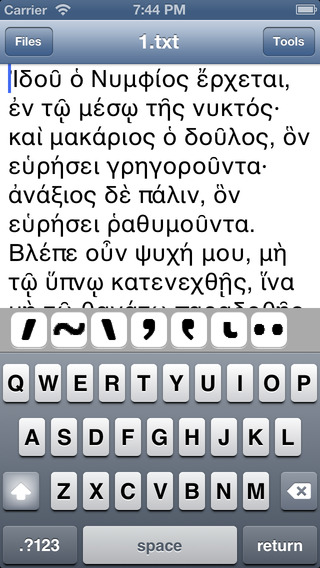 Write Greek Polytonic