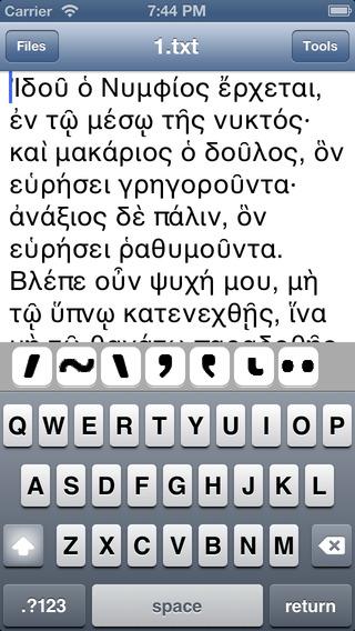 Write Greek Polytonic