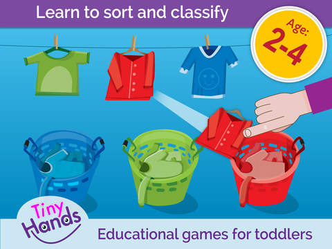 TinyHands Sorting 1 Teach your toddler and baby ab