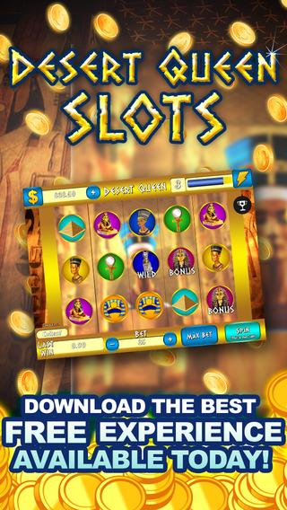 AAA Ancient Egypt Desert Queen Slots 777 Wild Cherries - Win Progressive Jackpot Journey Slot Machin
