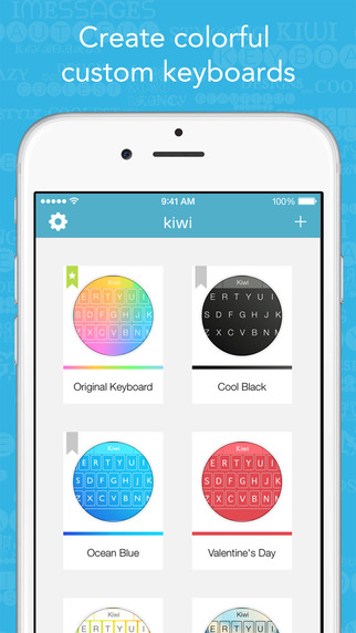 Kiwi Pro - Beautiful Colorful Custom Keyboard Designer for iOS 8
