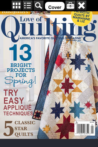 Fons & Porter's Love of Quilting Magazine screen