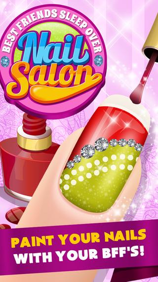 A Best Friends Sleepover Nail Salon Maker - Free Games