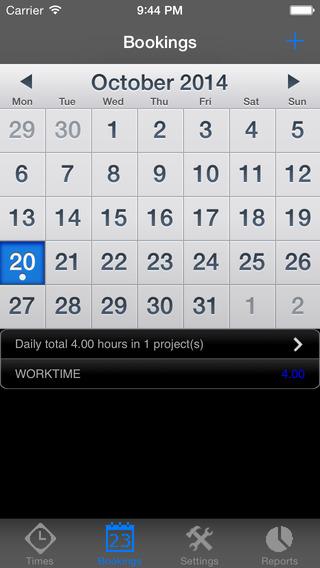 TimeRecorder iPhone Screenshot 2