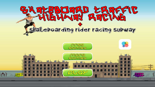 Skateboard Traffic Highway Racing + Skateboarding Subway Rider Race
