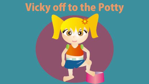 Vicky off to the Potty