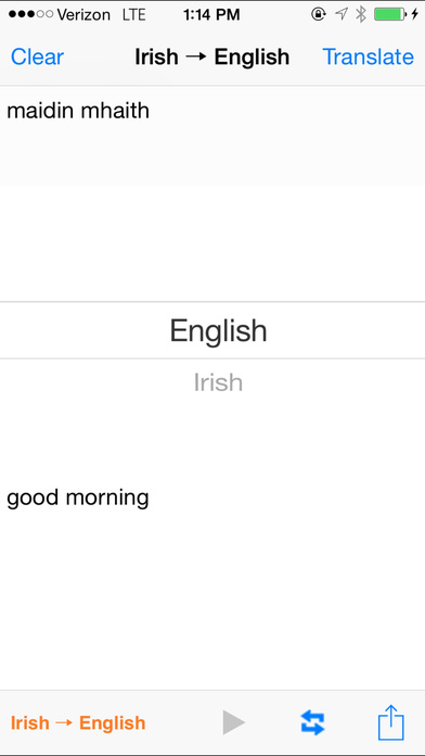 English Irish Translator iPhone Screenshot 1
