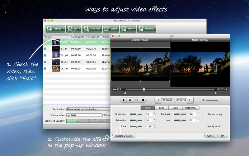 Free Video to DVD Backup Screenshot - 3