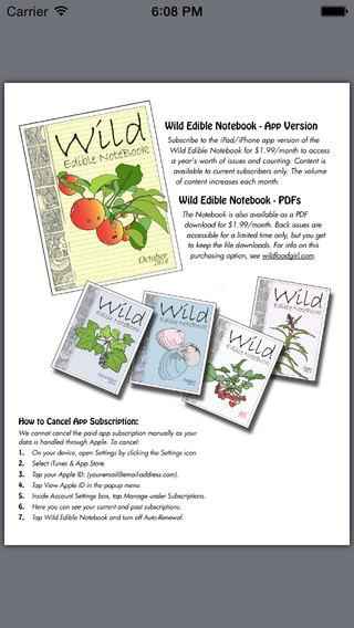 Wild Edible Notebook