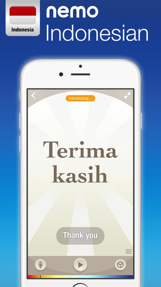 Indonesian by Nemo – Free Language Learning App for iPhone and iPad