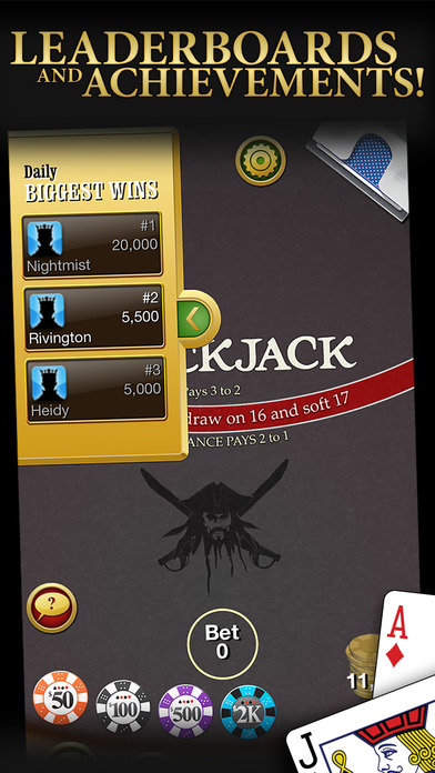 Blackjack iPhone Screenshot 4