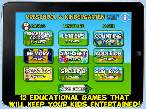 Preschool and Kindergarten Learning Games (School Edition)