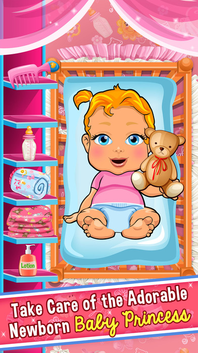 Screenshots of Princess Mommy's New Baby Doctor - my mom newborn salon games for little girl kids for iPhone