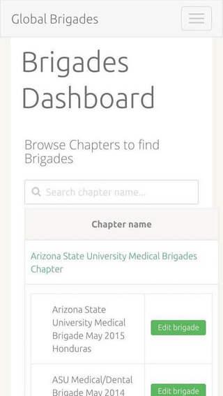 Global Brigades Dashboard